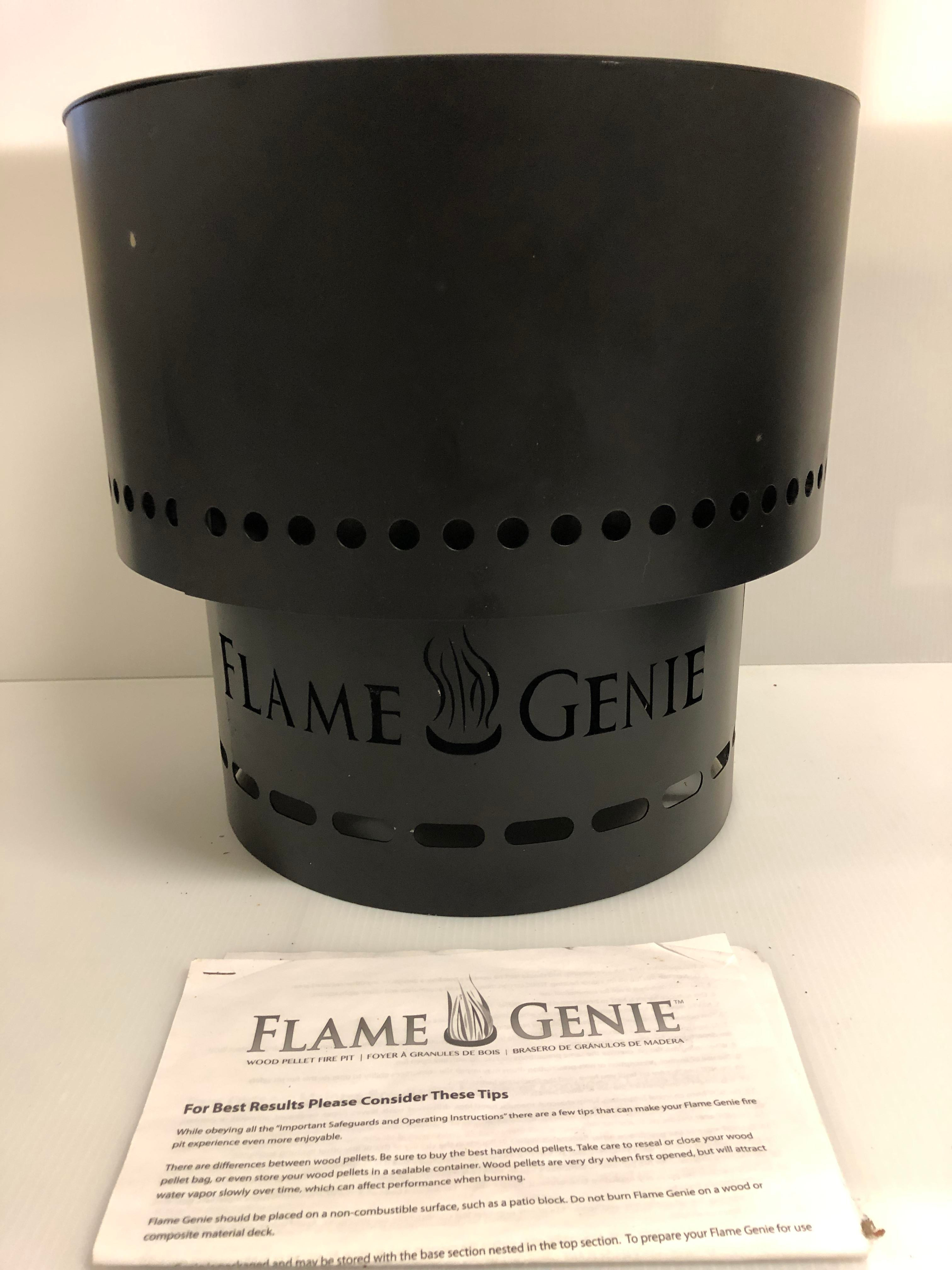 Flame Gene Wood Pellet Fire Pit Includes Cover Goose Co Estate Sales